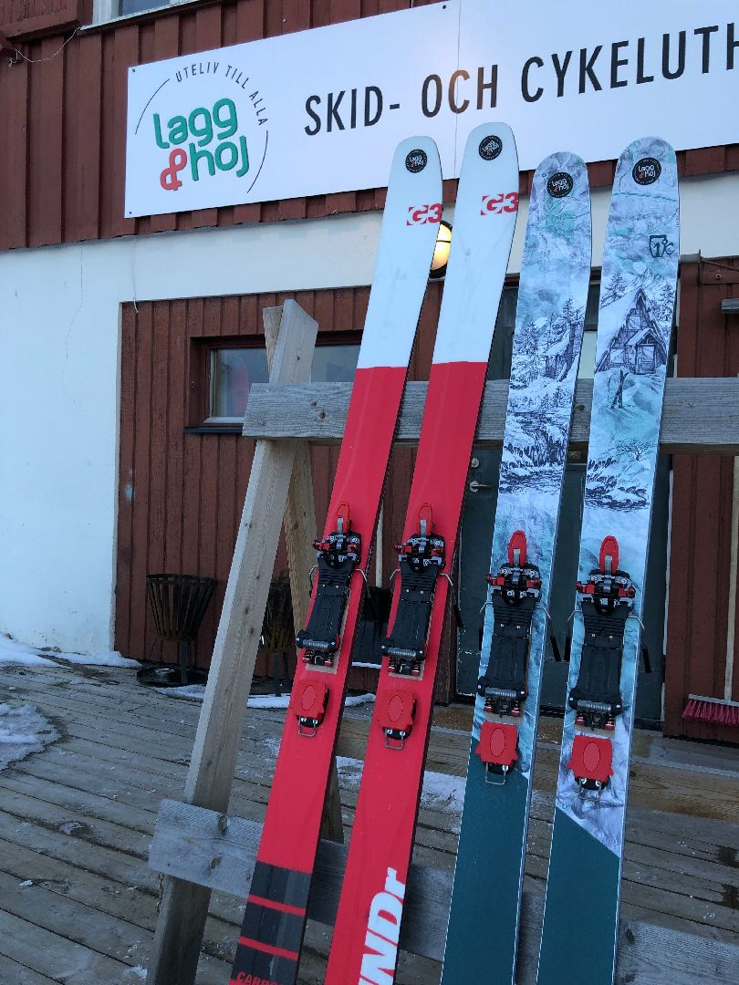 Lagg and Hoj ski test equiped with meidjo